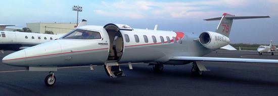 El LearJet 75 que muestra la compañía Aerolíneas Ejecutivas