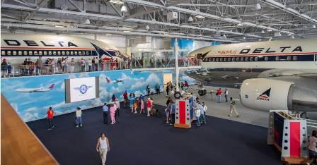 Imagen del interio del museo / Foto: Delta Airlines