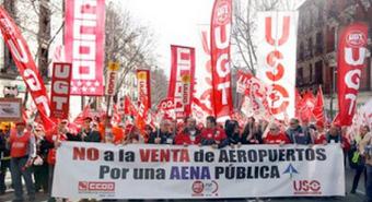 Protesta contra la privatización / Foto: Aena