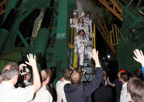 Los astronautas, poco antes de viajar a la ISS / Foto: ESA