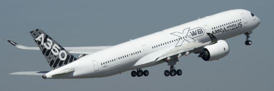 Despegue del quinto A350 / Foto: Airbus