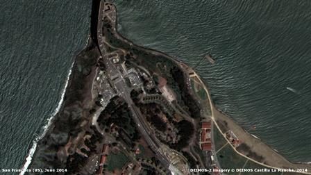 Detalle de la ciudad de San Francisco / Foto: Deimos-2