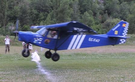 Aterrizaje de precisión de A. Pereda (EC-FA7)
