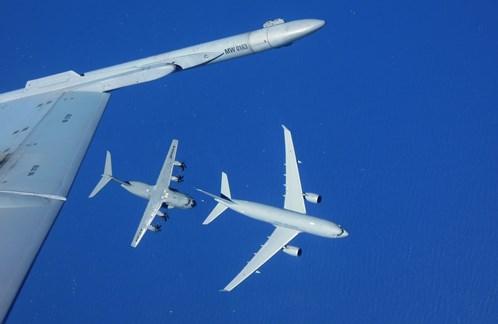 Estafoto se hizo desde un F-18, previsiblemente español / Foto: Airbus Defence and Space
