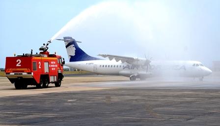 ATR 72 de Air Corsica, ayer en Perpignan / Foto: Xavier Pou