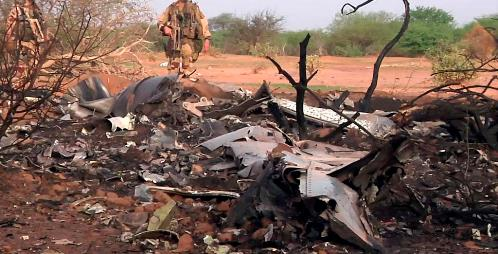 Los restos del MD83 de Swiftair revelan que impactó contra el terreno a gran velocidad