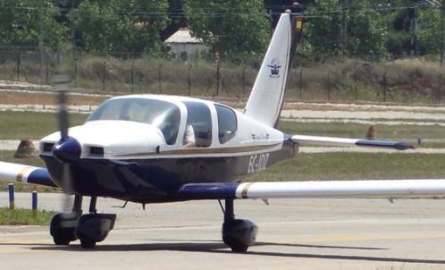 Uno de los aviones de Dream Flyers, en el Aeropuerto de Sabadell