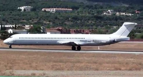 El MD83 de Swiftair, matrícula EC-LTV