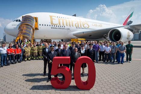 El avión se ha entregado hoy en Toulouse (Francia) / Foto: Emirates