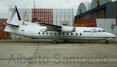 Fokker F-27-500 abandonado en Madrid-Barajas / Foto: Albertoi Samperio