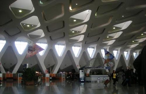 Edifcio terminal de aeropuerto Marrakech-Ménara