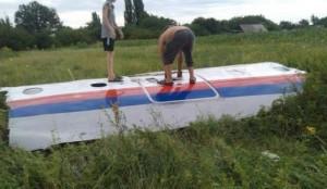 Foto que puede corresponder a restos del avión y que se divulga por Twitter