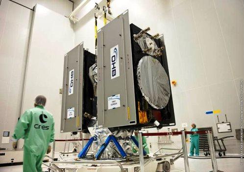 Los dos satélites Galileo / Foto: Agencia Espacial Europea