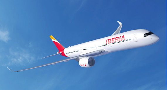 Imagen virtual del A350 con los colores de iberia