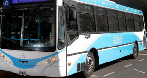 Uno de los autobuses