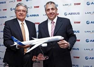 Rafael Alonso (Airbus América Latina) y Roberto Alvo (Grupo LATAM)