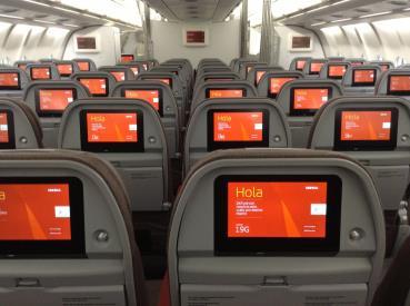 Interior del A330 de Iberia
