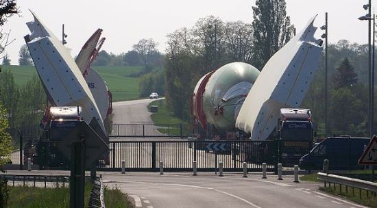 Imagen de un convoy, en un área de descanso / Foto: Wikipedia