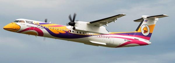 Vistosa decoración para el Q400 NextGen de Nok air / Foto: Bombardier