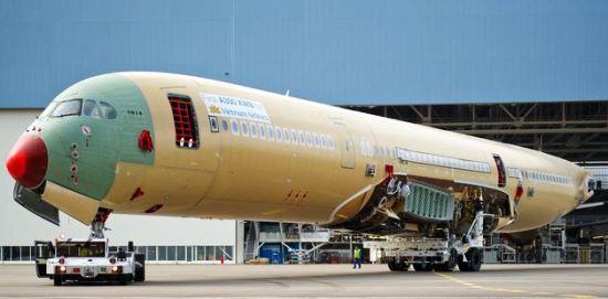 airbus A350 en proceso de ensamblaje / Foto: Airbus