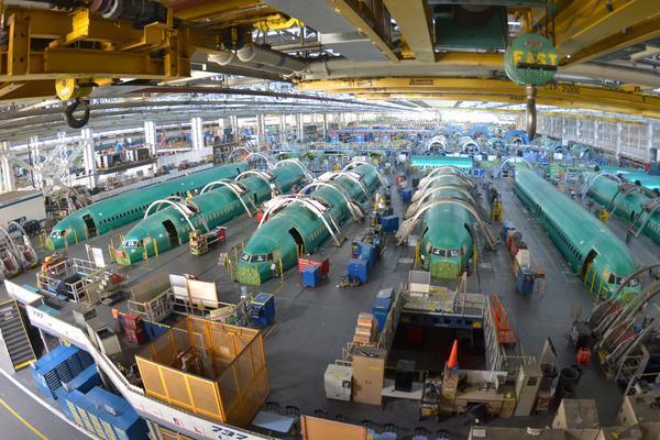 Aviones Boeing 737 en fase de producción