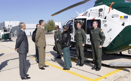 El rey felipe vi visita el servicio a reo de la guardia for Ministerio del interior guardia civil