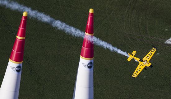 El avión de Nigel Lamb, en la carrera disputada en Austria
