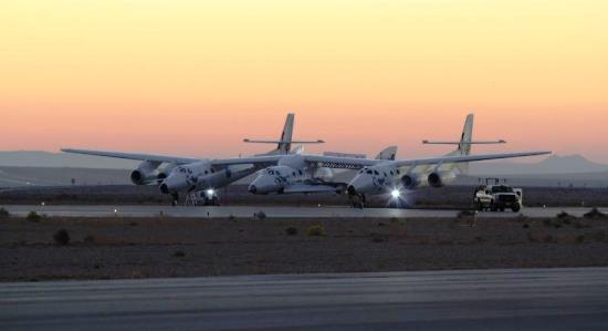 Foto publicada en el Twitter de Virgin Galactic, que correspondería a los preparativos del fatídico vuelo. / Foto: Scaled Composites / Jason DiVenere