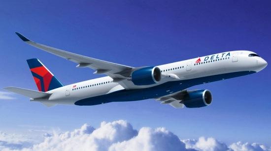 Recreación de un A350 con los colores de Delta