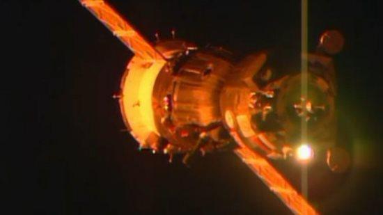 Aproximación de la nave Soyuz a la Estación Espacial / ESA