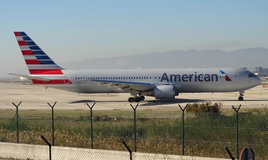 Boeing 767 de American Airlines, en el aeropuerto de Barcelona/ JFG