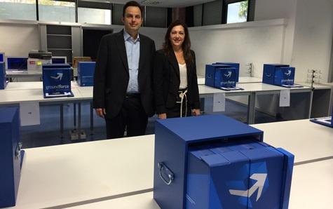Carmen López, Directora general de Globalia Handling y Ramón Perea, director de operaciones y aeropuertos de Globalia