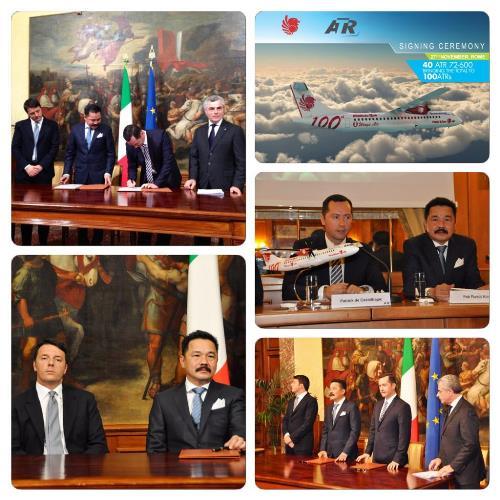 Imágenes de la firma del contrato, extraidas del Twitter de ATR