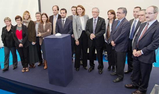 Responsables de las instituciones impulsoras del ESA BIC Barcelona