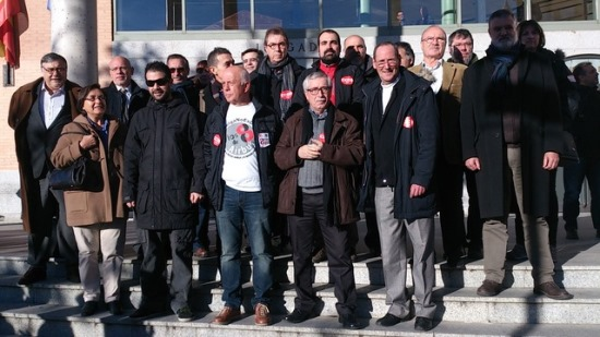 Ayer se realizó en Getafe una concentración de apoyo a los trabajadores procesados / CCOO