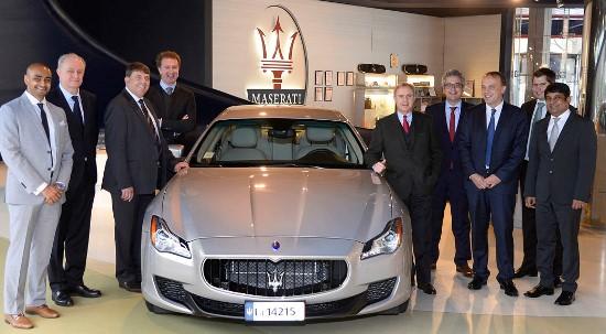 Directivos de Airbus Group y Maserati, en Modena / Airbus Group