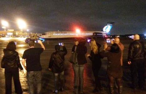 Llegada del avión al aeropuerto de Tampa / Foto: Southwest Airlines