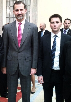 Felipe VI y fidel Azofra