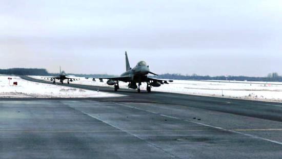 Llegada de los Eurofigter a Estonia / Ministerio de Defensa