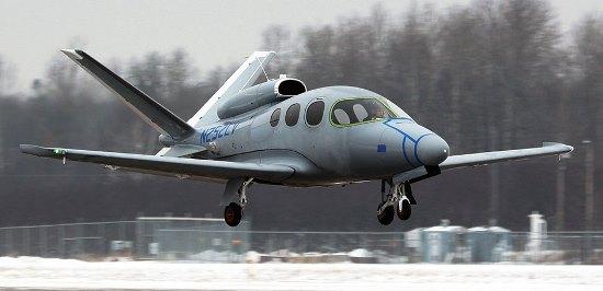 El Cirrus C2, durante su primer vuelo / Foto: Cirrus Aircraft