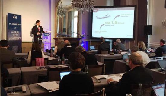 Presentación ayer de los resultados de ATR en rueda de prensa / Foto: @ATRaircraft