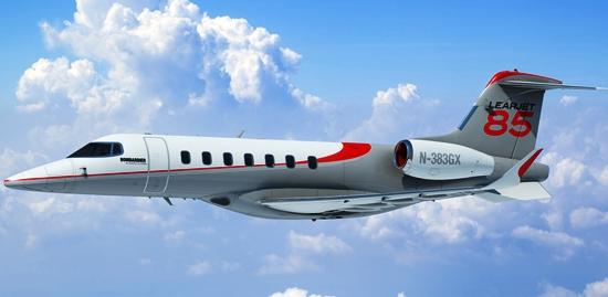 Imagen virtual del Learjet 85