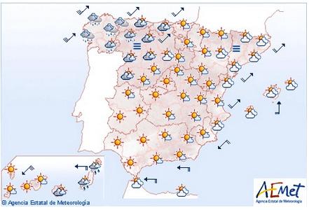 Mapa meteorológico de AEMET