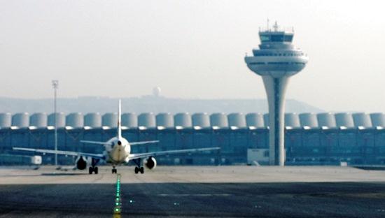 Torre de control aéreo del aeropuerto de Madrid-Barajas