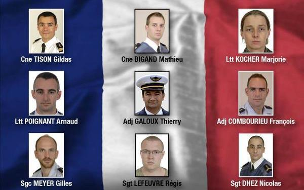 Las víctimas de Francia del accidente