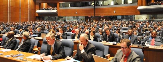 Imagen de un plenario de la OACI