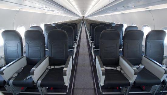 vueling recibe su primer a320 equipado con la cabina airbus space flex aerotendencias. Black Bedroom Furniture Sets. Home Design Ideas