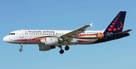 A320 de Brussels Airlines, al llegar a Barcelona-El Prat / Ramón J.