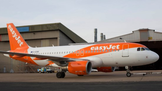 Nueva librea de Easyjet