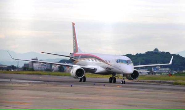El MRJ, en el aeropuerto de Nagoya / Foto: Mitsubishi Aircraft